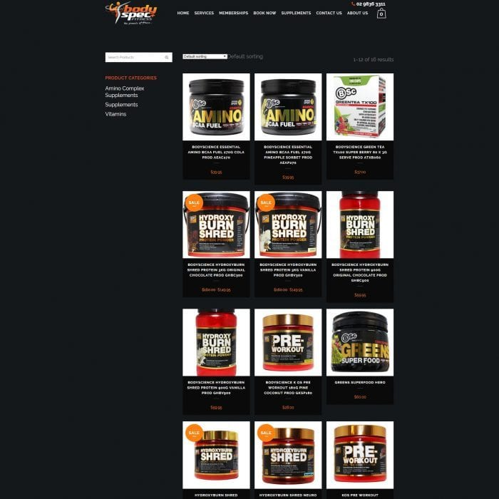 Bodyspec Fitness - Supplements