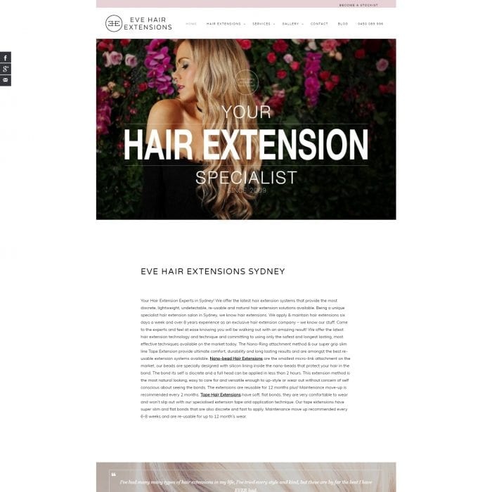 Eve Hair Extentions - Home