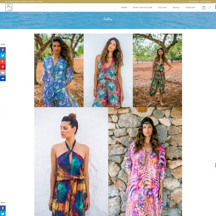 Ajaii – Fashion E-commerce Website - Gallery