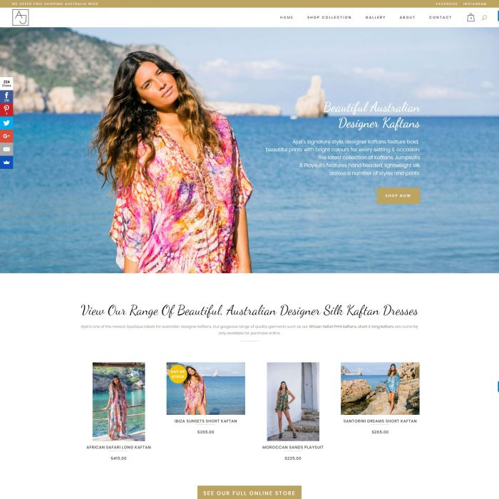 Ajaii – Fashion E-commerce Website - Home