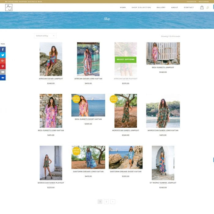 Ajaii – Fashion E-commerce Website - Shop