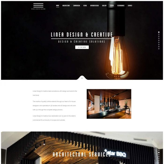 Linea Design & Creative – Website Redesign -