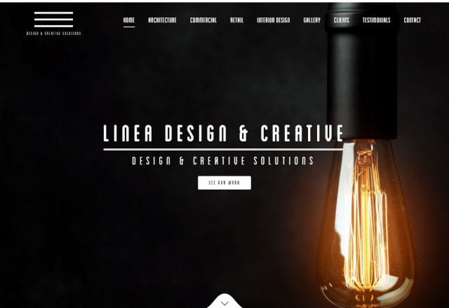 Linea Design & Creative – Website Redesign