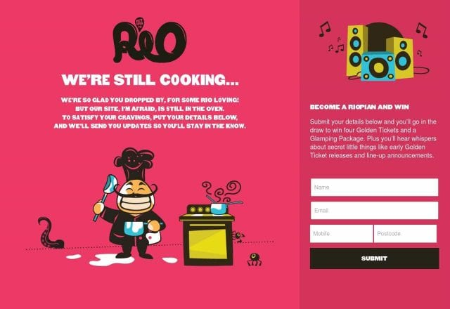 Return to Rio – Landing Page