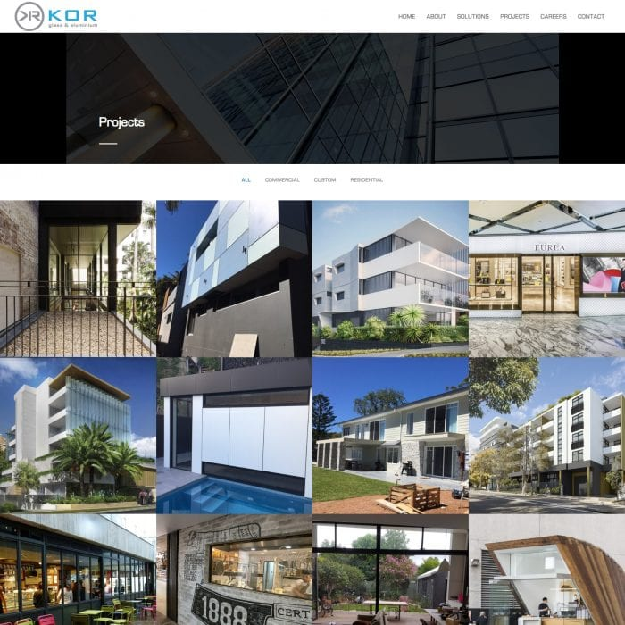 KOR Glass - Projects