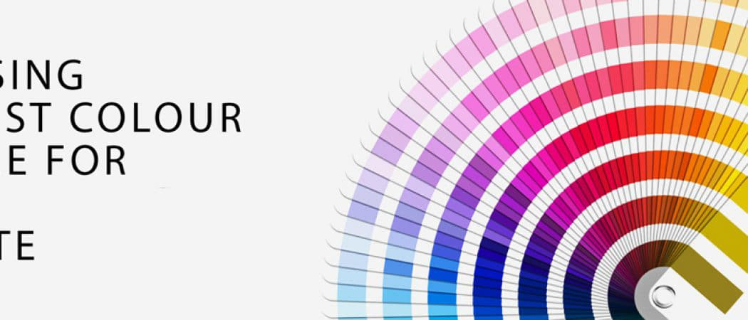 choosing the best colour for a website banner