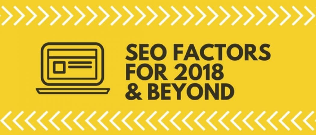 seo ranking factors for 2018