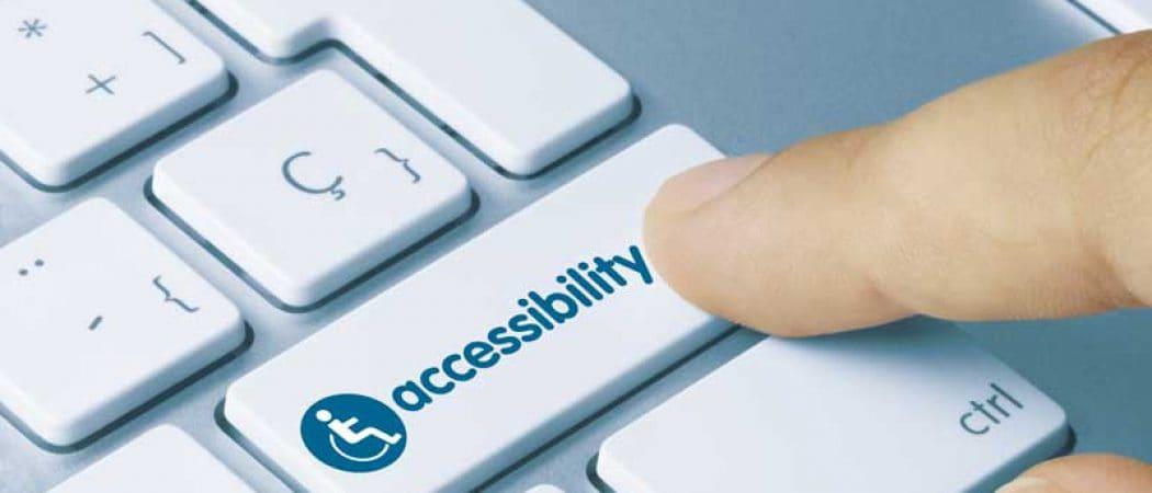 Shows a Accessibility key on keyword