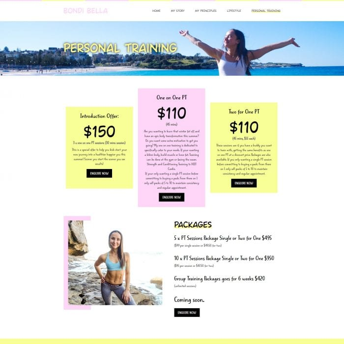 Bondi Bella - Personal Training