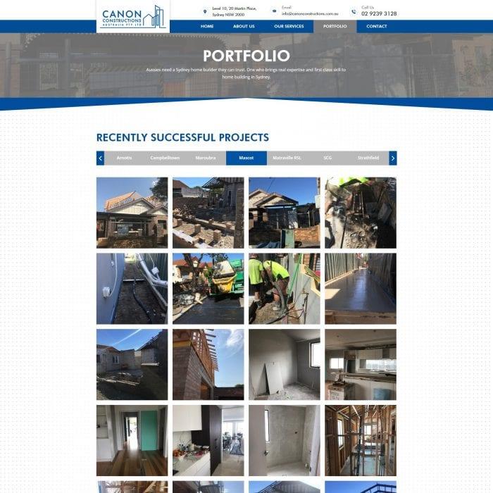 Canon Constructions - Portfolio