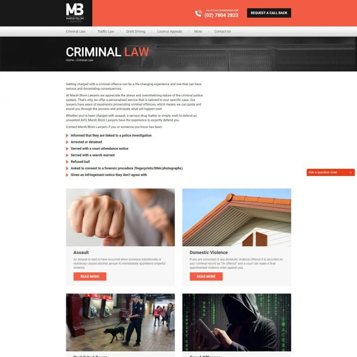 Marsh Blom Lawyers - Criminal Law
