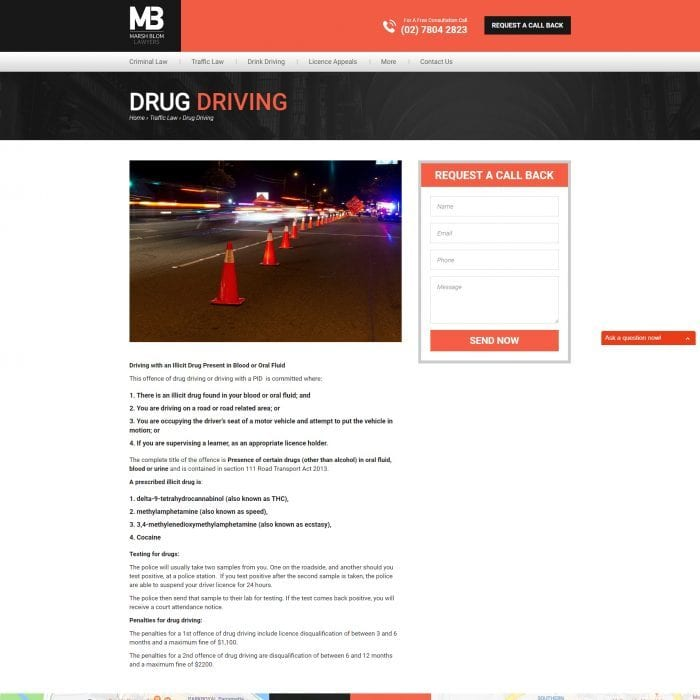 Marsh Blom Lawyers - Drug Driving