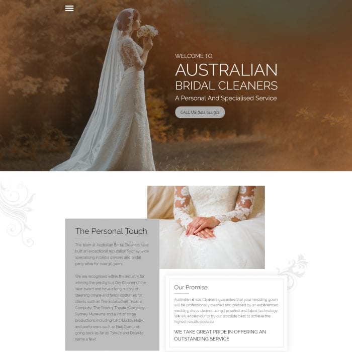 Australian Bridal Cleaners - Home
