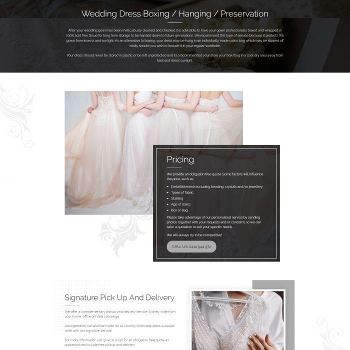 Australian Bridal Cleaners - Home Bottom
