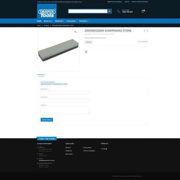 Draper Tools - Product Single