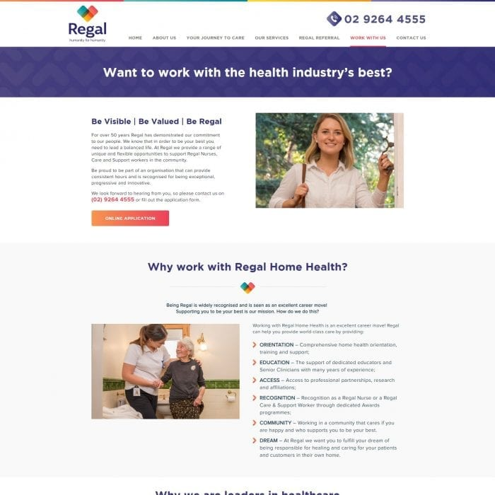 Regal Health - Work With Us