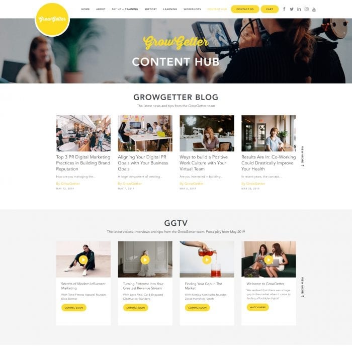 Grow Getter - Content Hub