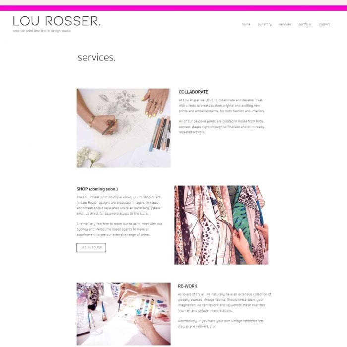 Lou Rosser - Services