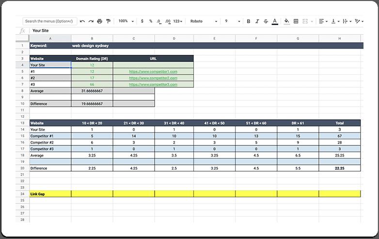 link gap analysis