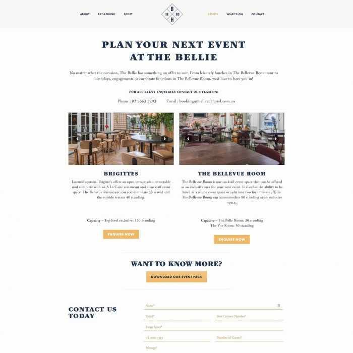 Bellevue Hotel - Events