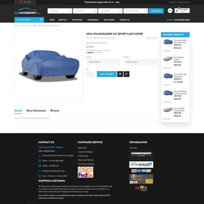 Car Accessory World - Single Product